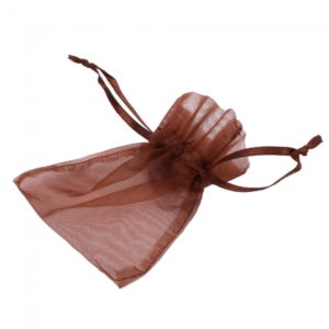 50pcs Organza del regalo de Navidad del favor de la boda de la bolsa del bolso 3x4 Dark Brown