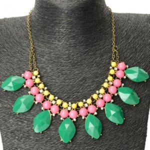 Water Drop Bohemia Mujeres Rhinestone del estilo collar de bolas colorido