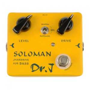 D52 Soloman Bass Overdrive Pedal Efecto Amarillo