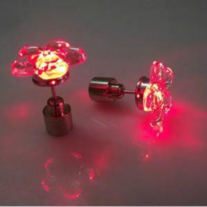 Red Pendientes flor del ciruelo de la manera LED