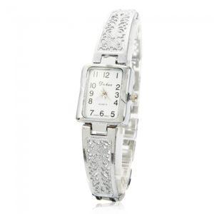 ?rabe numeral Escala de tiempo Femenino Cadena perforada correa de pulsera de plata