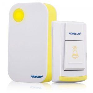 Forecum FK-04 36 Tono de timbre inal¨¢mbrico Sistema de Bell Receptor Bot¨®n con LED