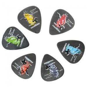 KAVABORG flexible anti-desgaste de Recogida de la roca de la serie Guitar Rana Delrin
