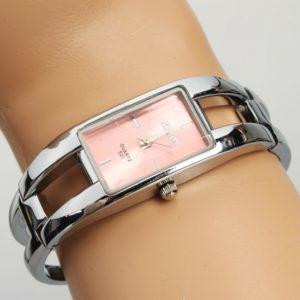 Rect¨¢ngulo Exquisito Dial acero inoxidable reloj pulsera de plata