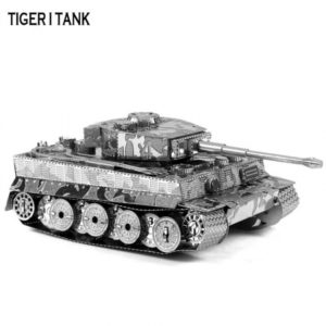 Tiger Tank Shape 3D Tridimensional metal inteligente juguete Puzzle Mode Artificial