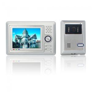 """5 """"Silver TFT LCD con cable Manos libres color video de la puerta sistema de tel¨¦fono"""