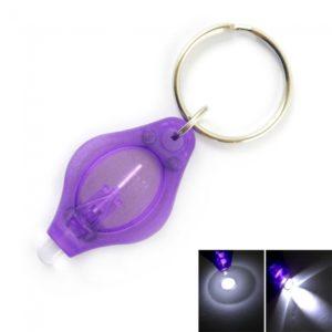 1 LED Mini linterna antorcha Llavero p¨²rpura
