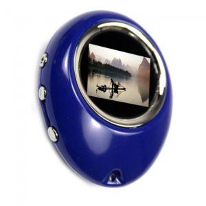 """1.1 """"Huevo 16MB forma de llavero marco de fotos digital Azul"""