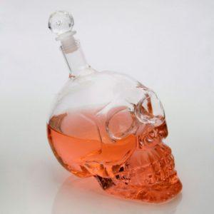Crystal Head Vodka Skull Wine Bottle Glasses Transparent