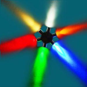 6W 110V-130V Haxagon Forma 6-LED l¨¢mpara de pared decorativa con dispersi¨®n de luz