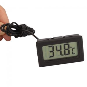Pantalla LCD de panel digital Term¨®metro Negro