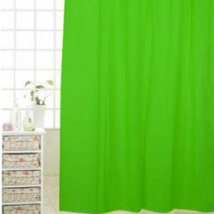 Pico cortina de ducha de PEVA Verde