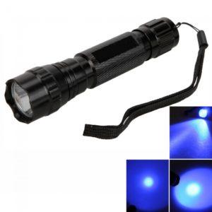 WF 501B CREE 100LM 5 modo linterna de luz azul 3.6v 4.2v Negro