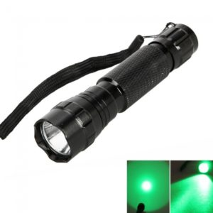 WF-501B CREE 100LM 5 Modo Verde Luz Linterna antorcha Negro
