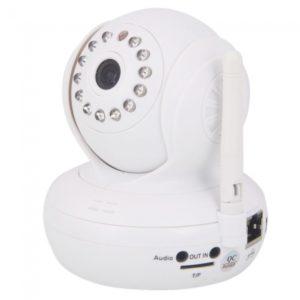 WiFi de la c¨¢mara de 13 IR LED Domo IP inal¨¢mbrica con audio de dos v¨ªas Blanca