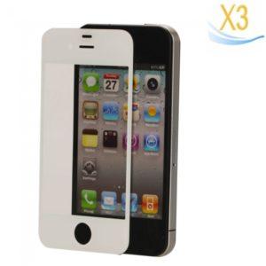 Lente de cristal de la pantalla t¨¢ctil de 3 piezas tienda para el iPhone 4 blanco