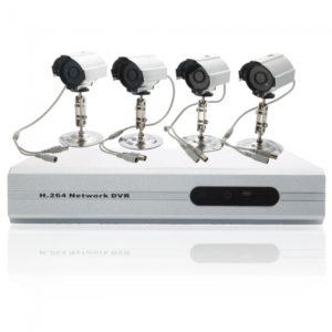 Cortar-IR 800TVL 24SMD LED Plata CCTV video de seguridad del sistema de c¨¢mara