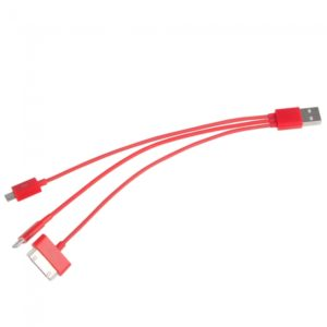 Cable de datos 4-in-1 USB para iPhone / iPad / iPod / SAMSUNG P1000 Rojo