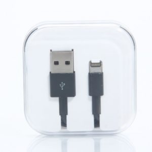 1M 8-Pin Lightning PVC Data Cable for iPhone 6/Plus/5/5S/iPad Mini/Touch 5 Black