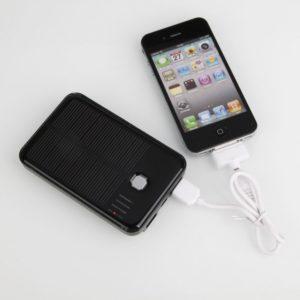 5000mAh doble USB Solar Power Bank para iPhone / iPad / iPod Negro