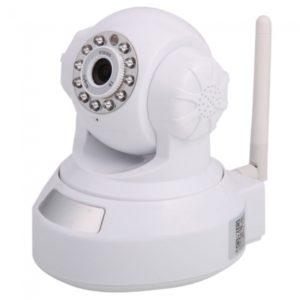 Wifi Plug-in TF tarjeta de la c¨¢mara IP H. 264 + G.727 V¨ªdeo / Audio Blanca