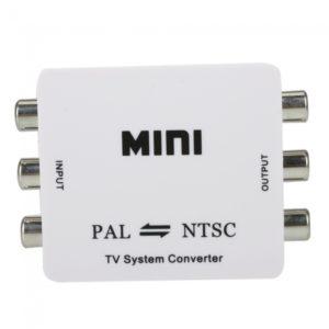 Mini Formato de TV PAL a NTSC / NTSC a PAL Sistema Convertidor Blanca