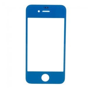 Lente de cristal reemplazo de la pantalla frontal para iPhone 4 Azul marino