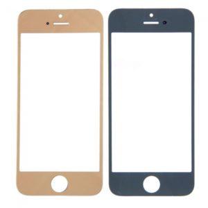 Lente de cristal reemplazo de la pantalla frontal para iPhone 5 chapado en oro