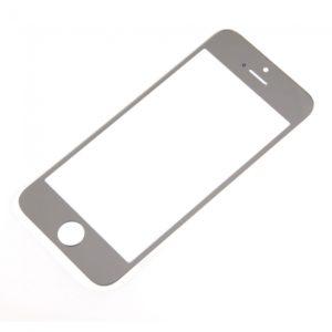 Lente de cristal reemplazo de la pantalla Frente para la plata iPhone 5 Chapado