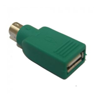 USB A Port to Keyboard Mouse Converter Adapter Green