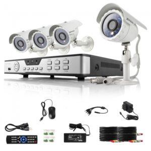 Zmodo ZMD-KDB4-NARBZ4ZP 4CH Full D1 DVR Home Security System with 4 Cameras