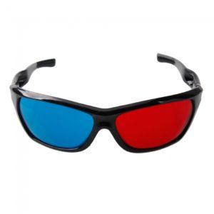Gafas 3D con la frontera para 3D Movie Game Red + Blue