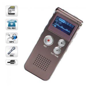 8GB Tel Grabadora de voz digital con USB Sound Control MP3 Red