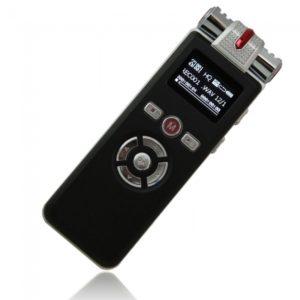 8GB Rectangle Grabadora digital de voz T-80 Negro