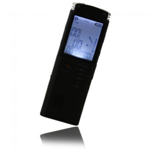 8GB T-60 Grabadora digital de voz con MP3 FM Tel-REC Negro