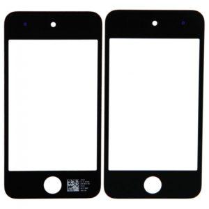 Lente de cristal de pantalla para iPod Touch 4 Negro