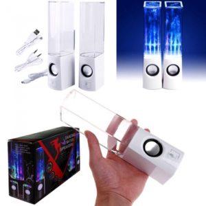 USB LED Luz altavoz de baile Water Music Box para el tel¨¦fono celular del MP3