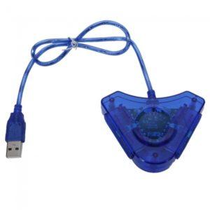 USB a PC Controller Adapter Converter para Sony PS2 Azul