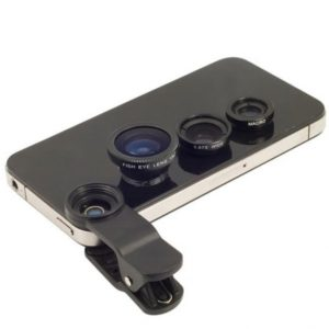 Universal 3-1 Fisheye Lens Wide Angle Macro Lens with Clip for iPhone/iPad