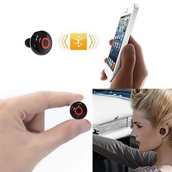 Universal Type Button Style 1-to-2 Bluetooth Stereo Headset White