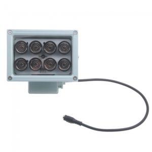 8LED l¨¢mpara infrarroja iluminador para la c¨¢mara de CCTV Blanca