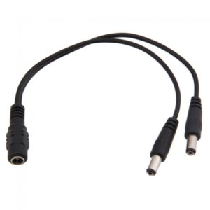 Y-shaped DC Connector Cable Black