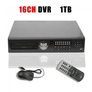 Red DVR 16CH CCTV Soporte de seguridad de control de acceso remoto PTZ