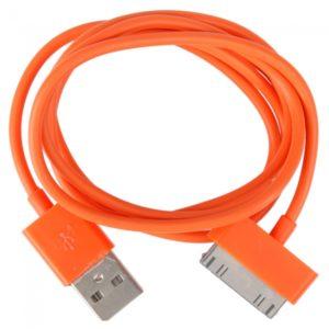 1M de datos USB y cable de carga para el iPhone / iPad / iPod de Orange