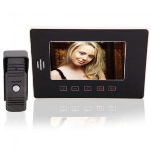 1 c¨¢mara con 1 monitor de 7 TFT at¨® con alambre el tel¨¦fono de la puerta del intercomunicador