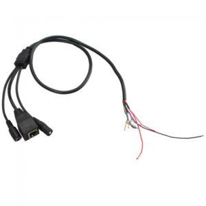 Red de Energ¨ªa IP C¨¢mara Cable BNC / DC con el interruptor de reinicio