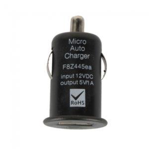 De cigarrillos del coche cargador USB Mini Adaptador 800mA Poder Negro DC 12V