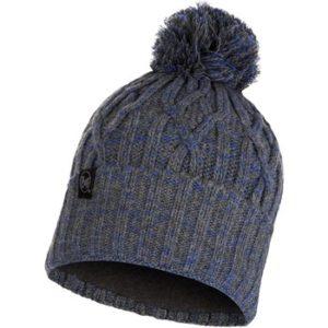 Gorro tricot y polar Gris