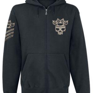 Comprar Five Finger Death Punch Armour Sudadera capucha con cremallera Negro