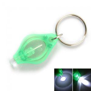 1 LED Mini linterna antorcha Llavero verde